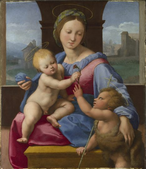 exposic?a?o Rafael - The Madonna and Child with the Infant Baptist